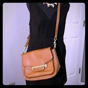 Brown leather coach crossbody